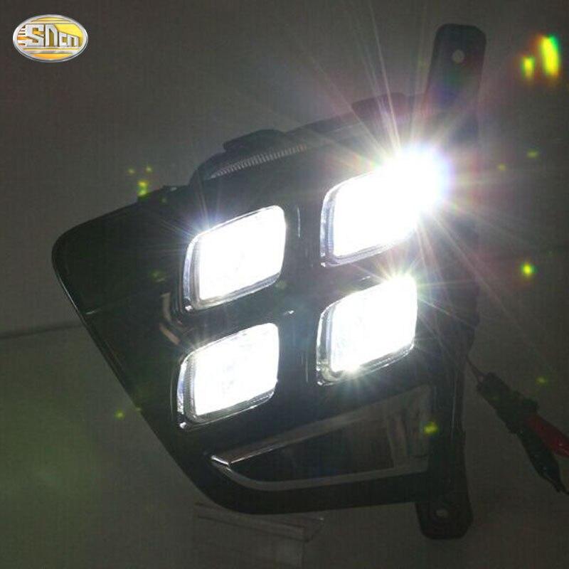 ФОТО SNCN LED Daytime Running Lights for Hyundai Creta IX25 2014 2015 2016 Fog lamp 12V ABS DRL driving Lights