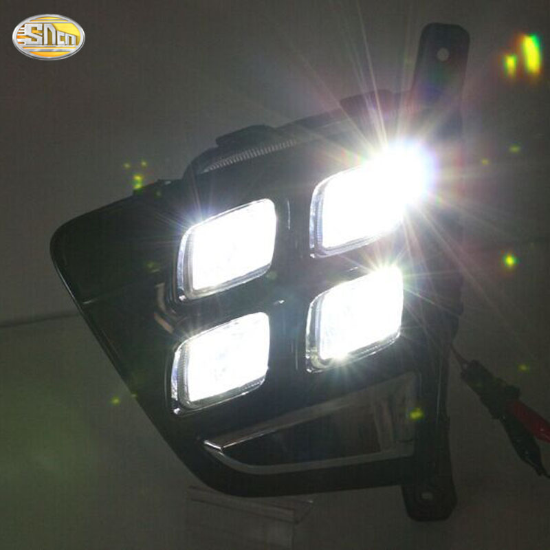 SNCN светодиодные дневные ходовые огни для Хендай Крета IX25 2014 2015 Противотуманные лампы 12V АБС DRL вождения фары