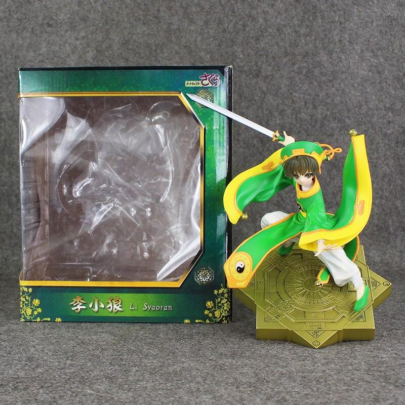 26cm Japanese Anime Figure Cardcaptor Sakura Li Syaoran Doll 1/7 Scale PVC Painted Figure Model Toy with box