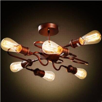 retro stil loft industrie fuhrte deckenleuchten esszimmer wohnzimmer lichter plafonnier vintage deckenleuchte lampe leuchte