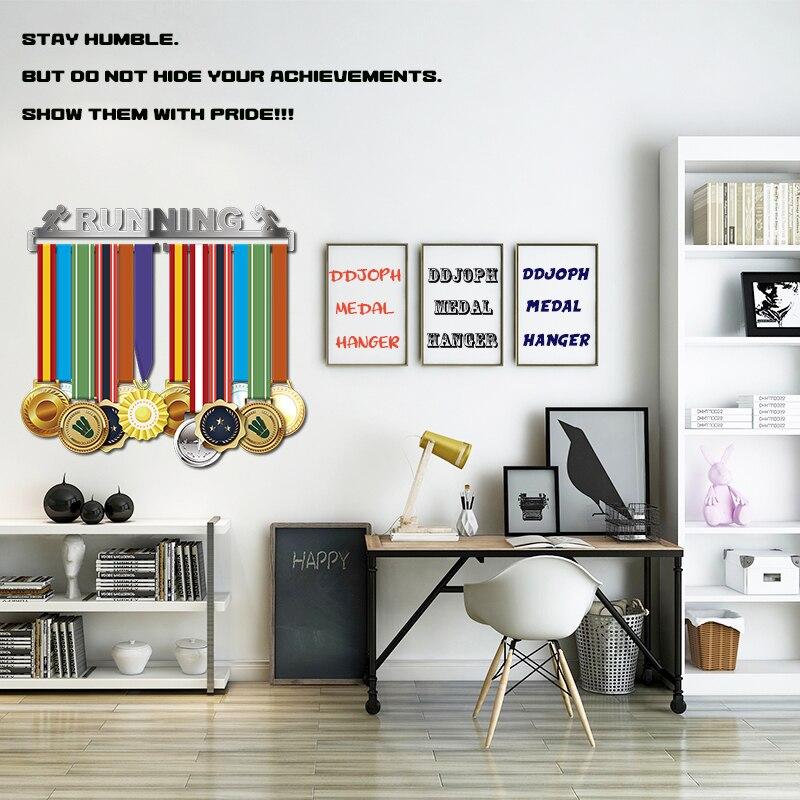 Image 3 - Race medal hanger Running medal holder Sport medal hanger display hold 10~16 medals-in Pins & Badges from Home & Garden