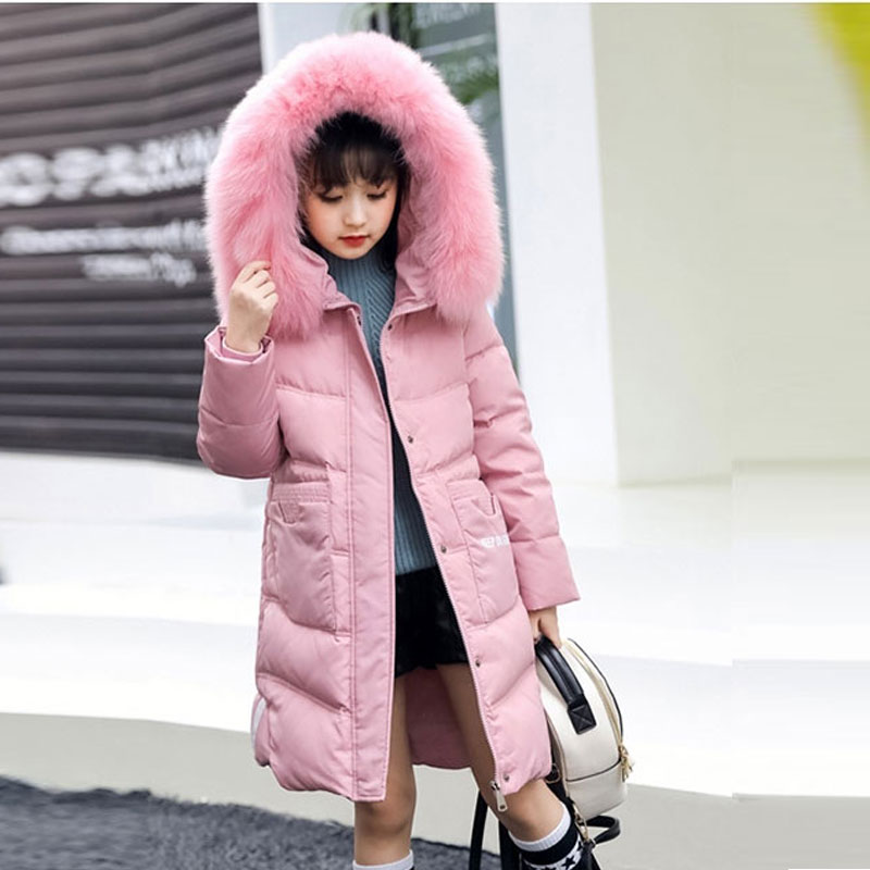 2017 Winter Jacket Overalls For Children Girls Fashion Warm Thicker Down Coats Outerwear Clothing Snowsuit Long Jackets new children down jacket out clothing winter ski clothes winter jacket for girls children outerwear winter jackets coats