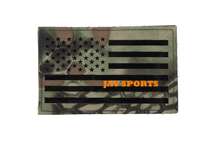 TMC Large 12.7x7.9cm Military US Flag Patches Infrared Patch In Ktyptek Mandrake+Free shipping(SKU12050458)