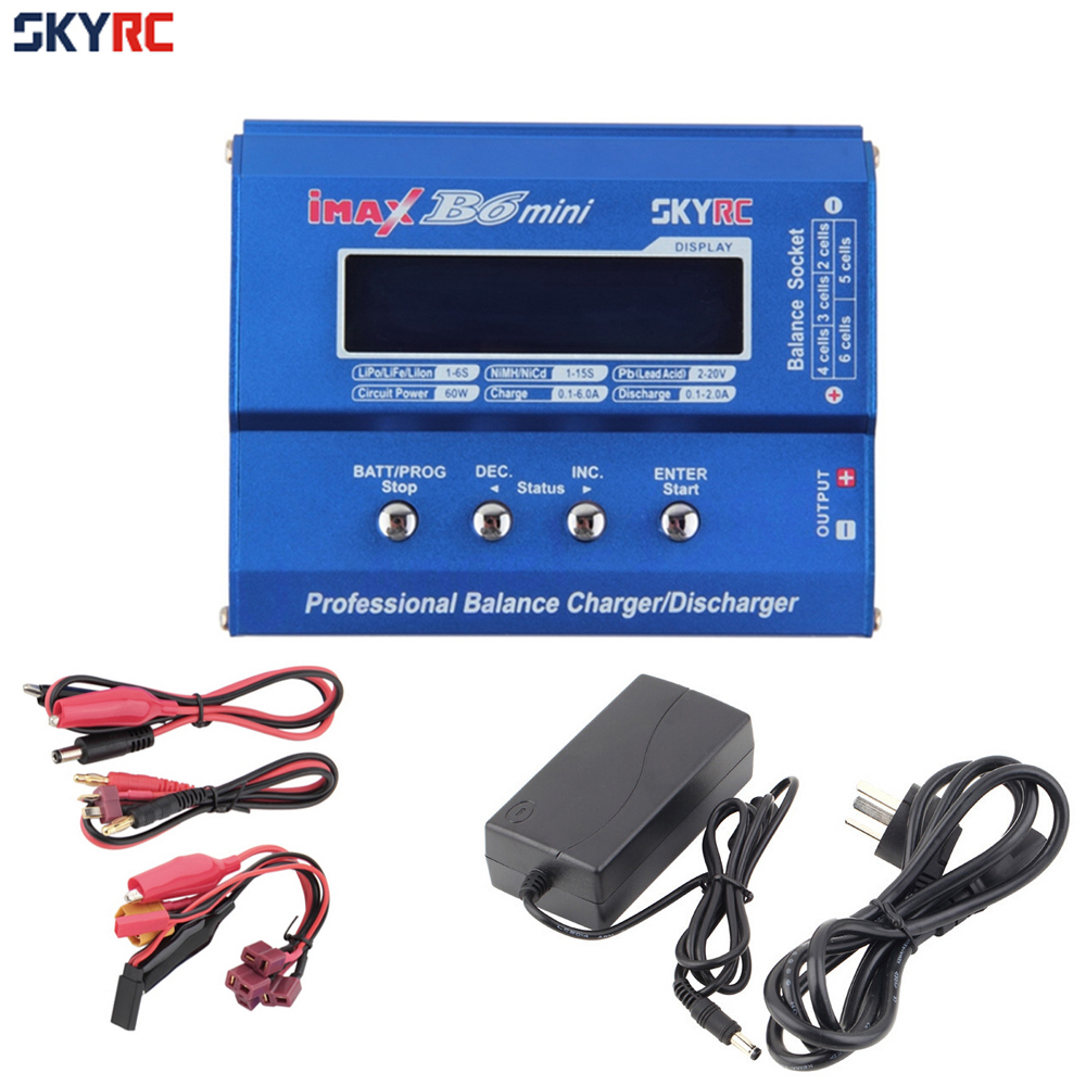 SKYRC Imax B6 Mini Professional Battery Balance Charger +15V 6A Adapter For RC Helicopter Drone Charging