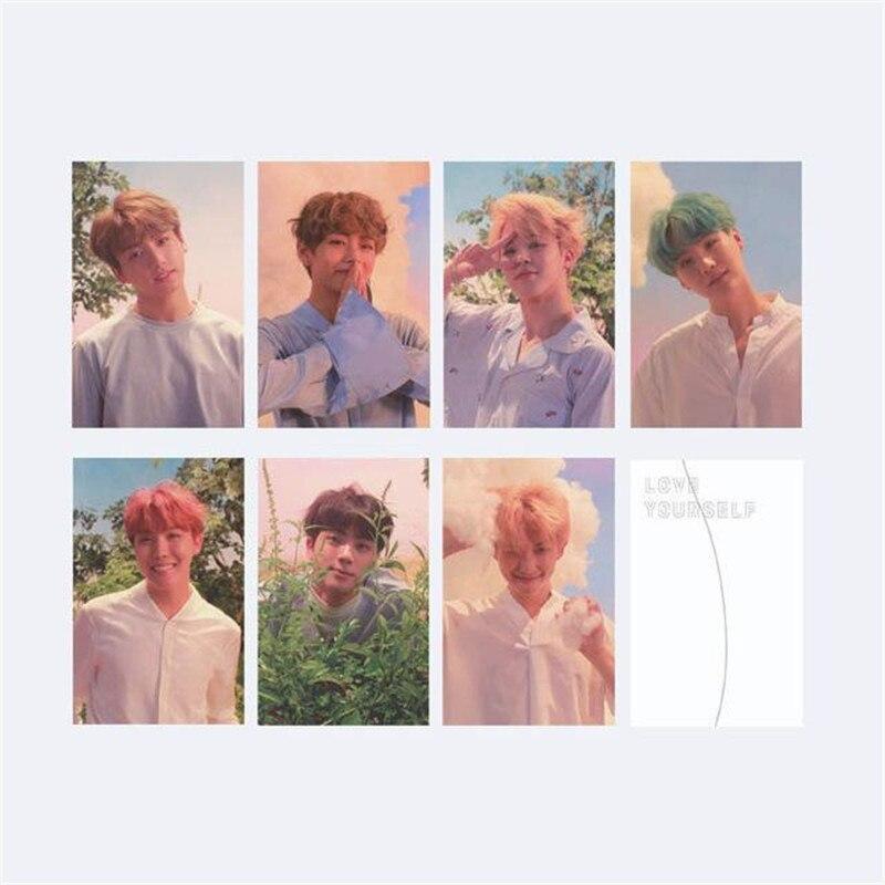 Kpop Bts Bangtan Boys Love Yourself Portray Photo Cards Lomo Small Cards Jung Kook Jimin V Same Postcards Jewelry & Accessories