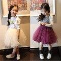 Юбка ребенка 2016 новинка детские юбка девушки юбки детская одежда для ну вечеринку свадьба
