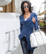 New Women Cardigans Computer Knitted Standard Open Stitch Long Sleeve Solid Casual Over Coat Plus Size