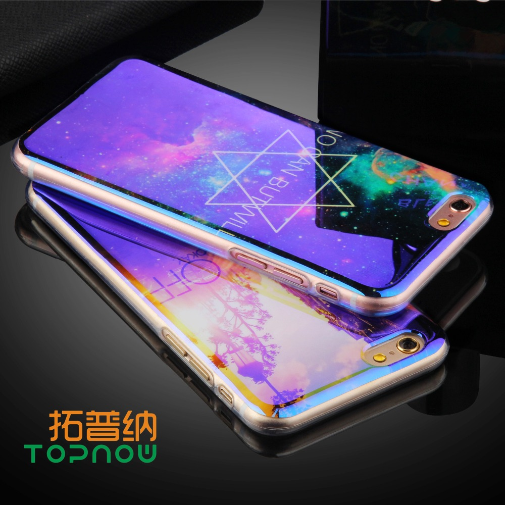 Topnow TPU Case for iPhone 6 6S 6 Plus 6sPlus New <font><b>Arrival</b></font> For iPhone7 7Plus Cover IMD Flower <font><b>Blu-ray</b></font> Soft Silicon Phone Cases