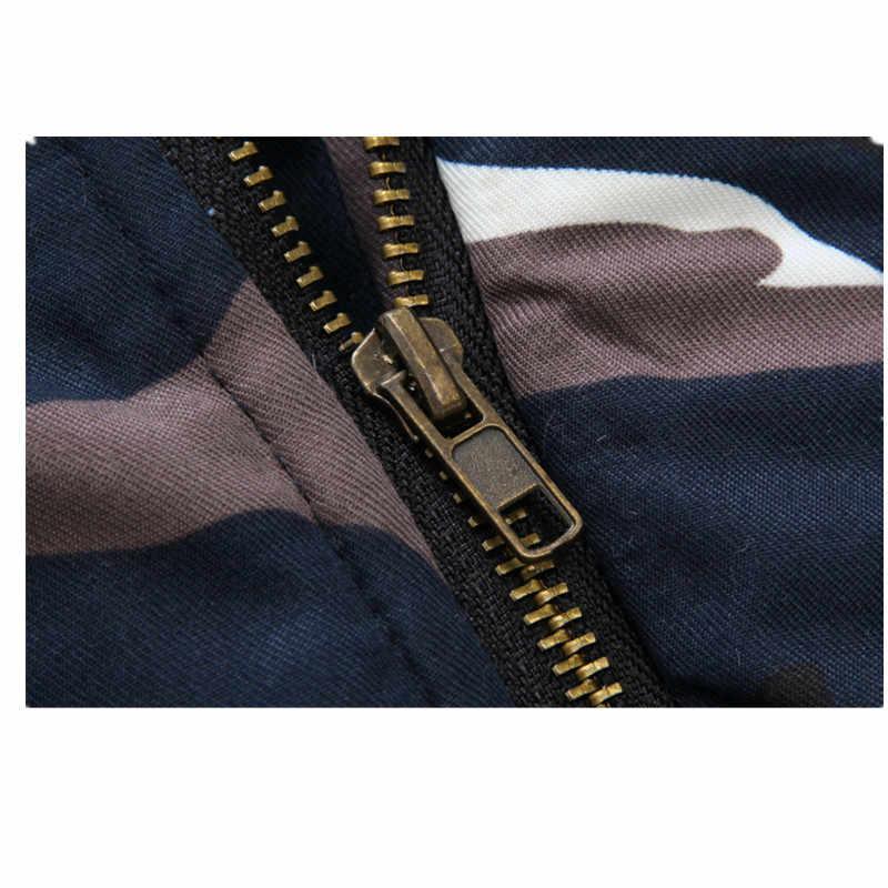 2019 新ブランド冬の厚手の迷彩ジャケットメンズパーカー付きパーカージャケット男性軍事オーバー
