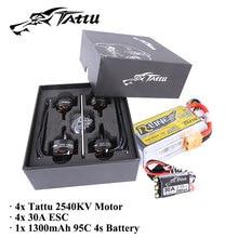 Tattu Power Pack Bundel Dengan 4 pcs Motor & 4 pcs 30A ESC & R-line 1300 mAh 4 S baterai untuk FPV Drone Heli pesawat