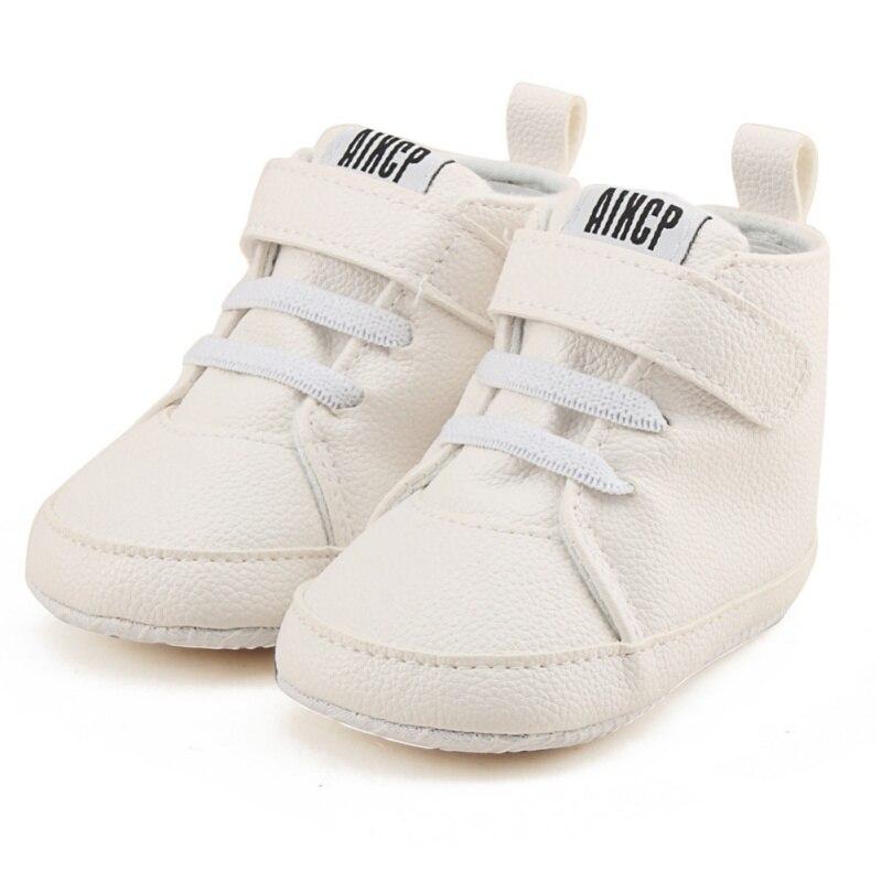Autumn Winter Baby PU Shoes Toddler Newborn Kids Boy Girl Soft Sole Canvas Sneaker