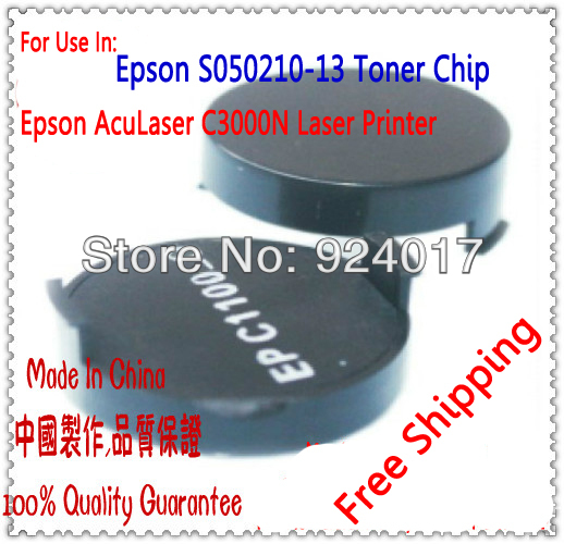 Compatible Epson EPL-N3000 EPL N3000 EPLN3000 Printer Toner Chip,For Epson EPL N 3000 C13S051111 S051111 Toner Reset Chip,10PCS