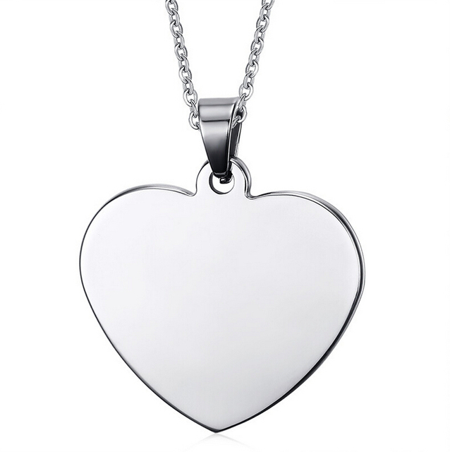 Aliexpress buy customized engraved stainless steel heart customized engraved stainless steel heart shaped pendant personalized necklace with any message aloadofball Gallery