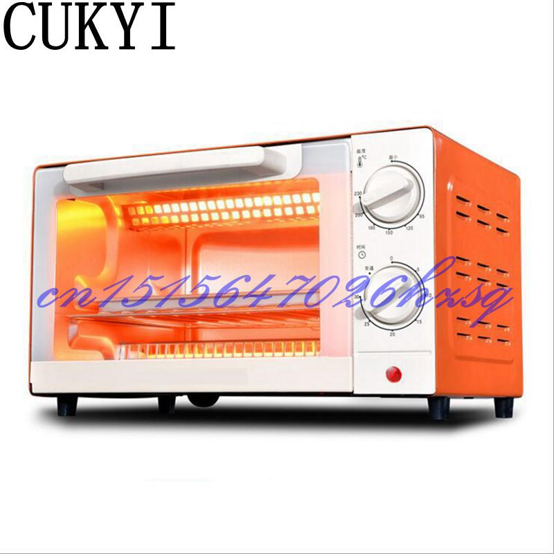 CUKYI Household Electric Multifunctional Mini oven baking and 10L Temperature control Cake Two colors 1000W Stainless steel cukyi household electric multi function cooker 220v stainless steel colorful stew cook steam machine 5 in 1