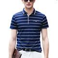 3XL Camisa de Polo de Los Hombres 2016 Nueva Moda de Verano Transpirable Oficina Polo A Rayas Camisetas y Tops Camisas de Polo de Los Hombres de Negocios algodón mz220
