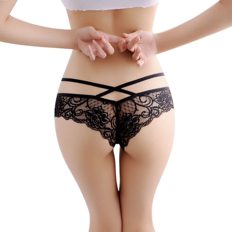 5ba29c9b74f Hot 2016 New Women Sexy Lace Panties Briefs Transparent Lingerie Knickers  Panty V String thong Underwear bragas mujer
