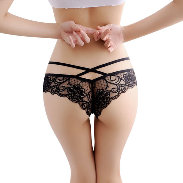 2f4d28aaec2 Hot 2016 New Women Sexy Lace Panties Briefs Transparent Lingerie Knickers  Panty V String thong Underwear bragas mujer