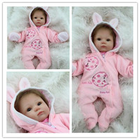 18inch silicone reborn dolls newborn baby cheaper price solid doll toy for girl reborn dolls Reborn Dolls with Soft Real Gentle