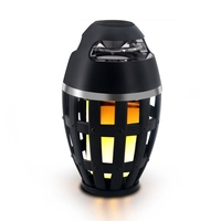 LED Flame Table Lamp Atmosphere Bluetooth Speakers Outdoor Portable Stereo Speaker with HD Audio LED Flickers Warm Yellow