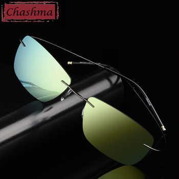 Stainless Steen Prescription Sunglasses Polarized Men Mirror Coating UV 400 Lens Anti Glare Rimless Glasses Women Myopia Glass - DISCOUNT ITEM  30% OFF All Category