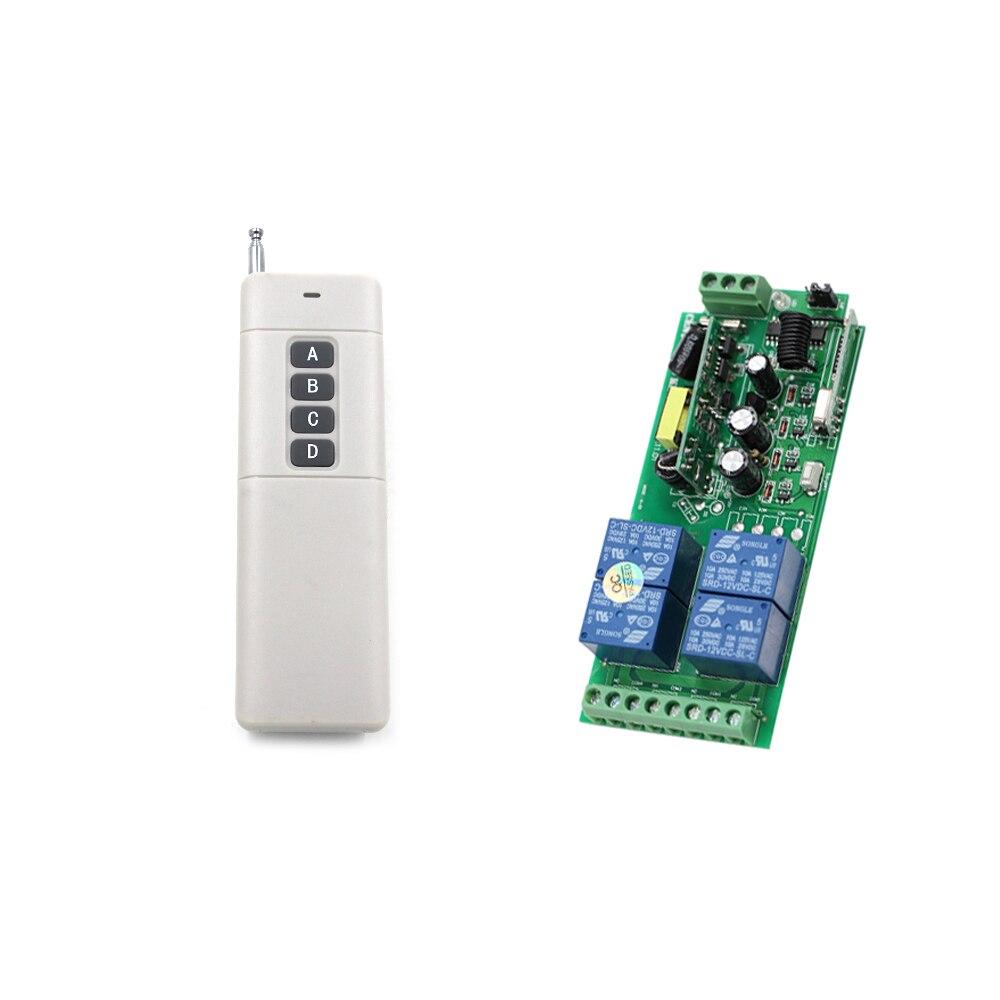 Long Distance AC85V 110V 220V 230V 250V 4CH Wireless Remote Control Switch 220V Relay Output Radio RF Transmitter Receiver ac 250v 20a normal close 60c temperature control switch bimetal thermostat