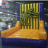 Jumping game toys inflatable stick wall bouncy castle wall,4x3x3m inflatable sticking wall with free air blower
