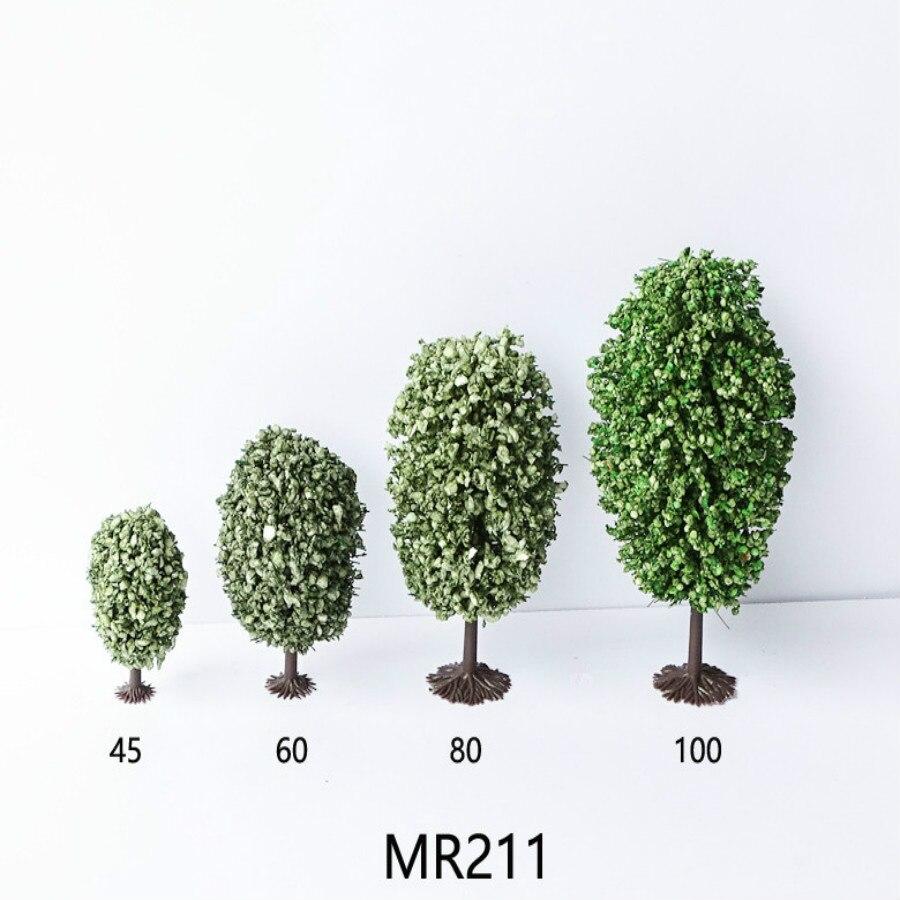 20pcs Orbicular Model Train Trees N Z scale 68mm model railroad wood trees O55 railway modeling tree model building kits