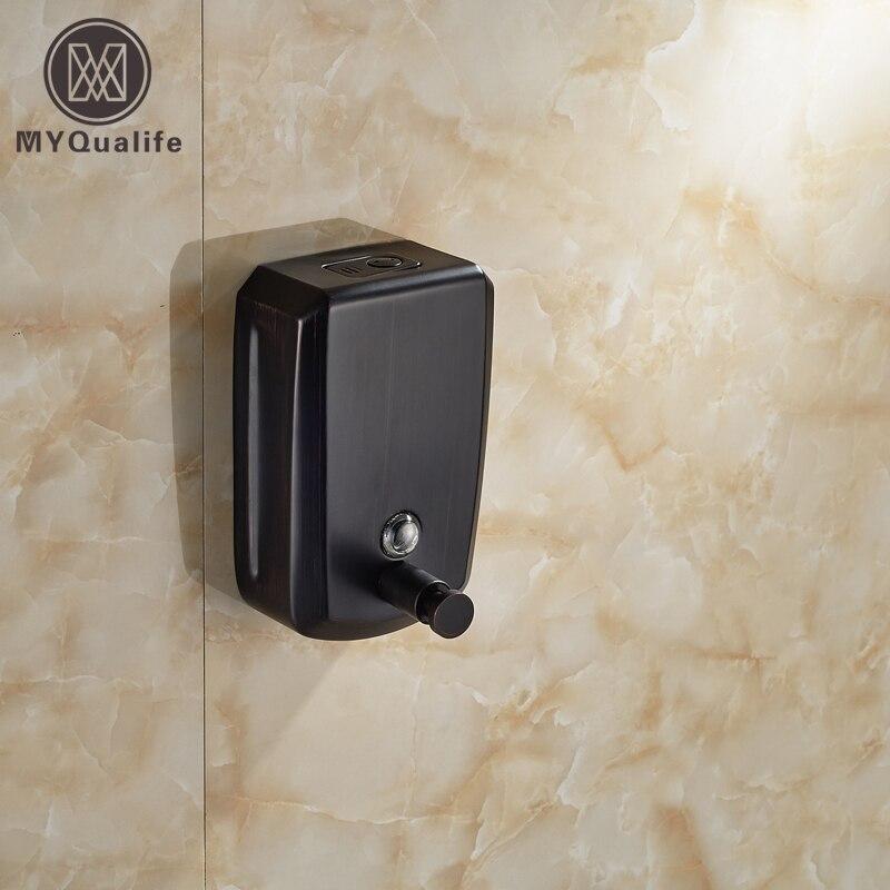 Free Shipping Wall Mounted Bathroom Soap Dispenser Liquid Soap Dish Bottal 800ML цена 2017