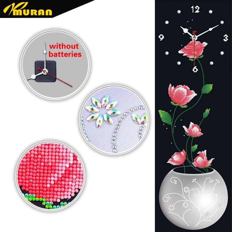 MURAN falióra gyémánt hímzés keresztszemes virágóra gyémánt - Művészet, kézművesség és varrás