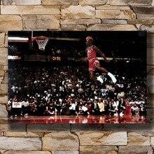 N0755 Michael Jordan famosa línea Dunk Vintage 8x12 20x30x24x36 pared arte L-W lienzo impreso decorativo