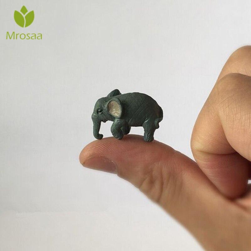 1/5/10pcs Tiny Q 2.8CM Elephant Mini Ornament Furnishing Articles DIY Landscape Miniatures Home Decoration Arts Crafts
