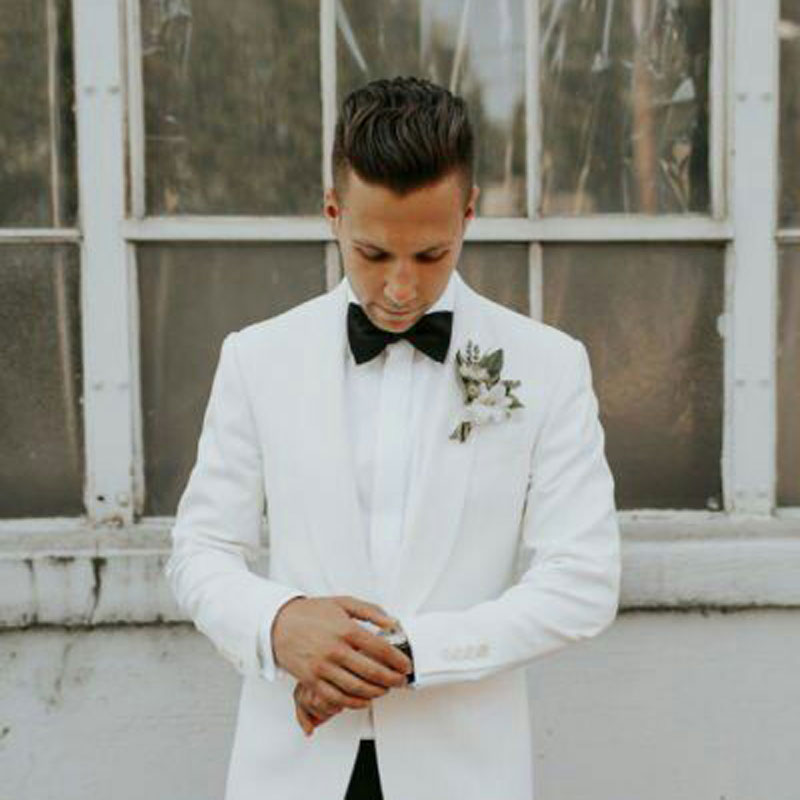 Summer White Men Suits Wedding Suits Man Blazers Groom Tuxedo Costume Homme 2Pieces Coat Black Pants Slim Fit Terno Masculino in Suits from Men 39 s Clothing