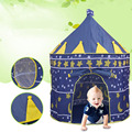 Kids Outdoor Toy Tents Portable Foldable Prince Folding Tent Children Boy Girl Castle Cubby Fairy Play House Gifts Tent For Kids