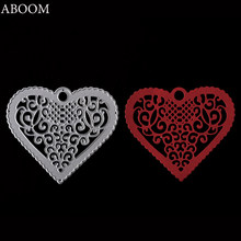 ABOOM 1PC Scrapbooking Dies Metal Lace Heart Background Cutting Dies Craft Embossing Stamps Stencils Paper Card Making Die Cut(China)
