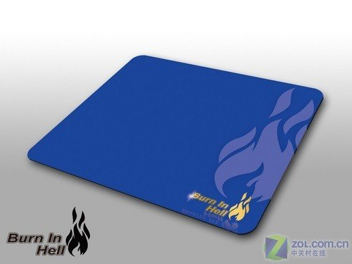 Burn In Hell - Hellfire FIRE-PAD Silky Mouse Pad Mat Mousepad BLUE #00452(big size, high quality, most silky)