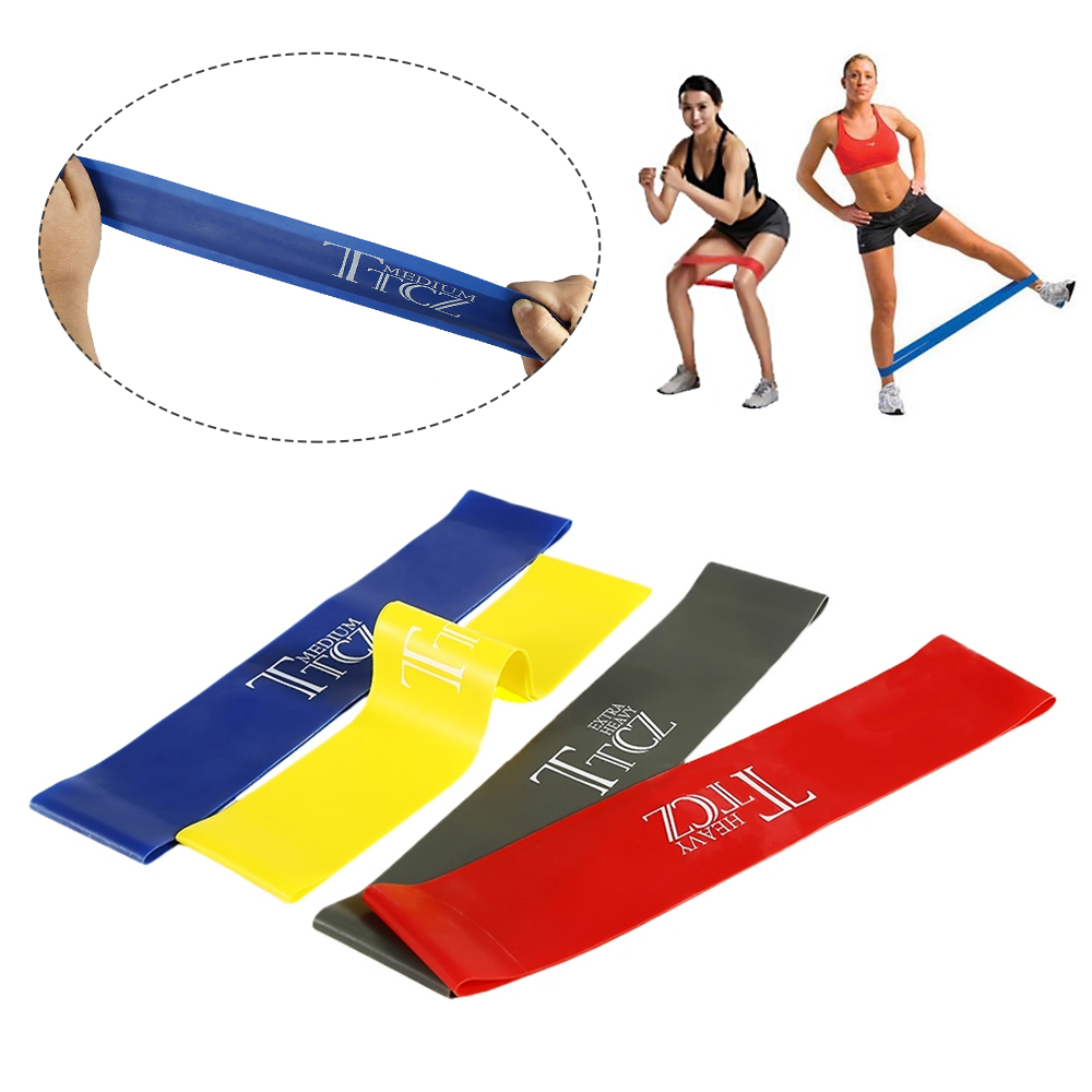 1pc Multi-color Yoga Resistance Band Gym Exercise Loop Band Fitness Loop Stretch Band Gym Equipment Training Exercise Latex Band 1pc top healthy organic bamboo wood natural wooden yoga brick training block exercise fitness gym practice tool