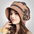Señora de las mujeres Clásico accesorios para el Cabello Fascinator Sombrero Pastillero Bowknot Sentía Partido Iglesia Lana Fedora Sombrero B-0729