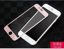 Для iPhone 7 Полное Покрытие 3D Мягкий край Закаленное Стекло Два цвет сшивание Безопасности Защитная Пленка
