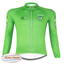 Tour de France 2016 New Arrivals Men's Cycling Thermal Fleece jersey pro team Outdoo cheap-clothes-china maillot ciclismo Sport