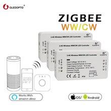 Заводская цена g светодиодный opto WW/CW smart control системы zigbee беспроводного управления светодиодный освещение контроллер 12 В-24 В rgb затемнения переключатель светодиодный