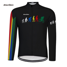 alenskin Men Cycling Jersey Long Sleeve Mountain Road Bike Jersey Breathable Bicycle Jersey Pro Sport Cycling Clothing 6575 autumn hooded cycling jacket windproof cycling cloth jersey long sleeve coat breathable men road mountain bike jacket