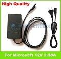 Genuine 12 v 2.58a 36 w laptop adapter para microsoft surface pro 3 1625 Pro 4 I5 1631 Porta USB carregador 5 V 1A EUA plug UE