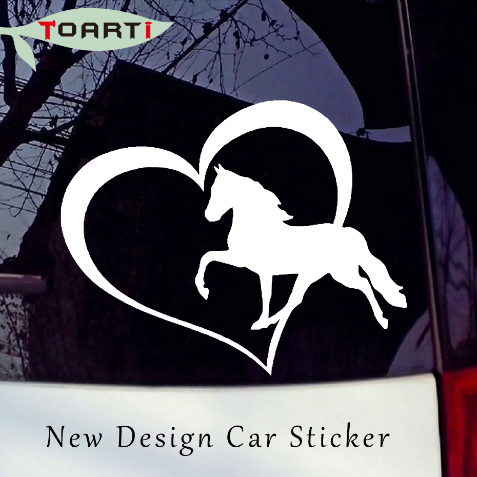 Zemra e kalit Vinyl Decal Sticker Window Car Bumper Wall Love Symbol Pony Creative Waterproof Accessories Dekorimi