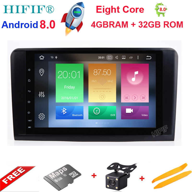 HIFIF Eight Core PX5 Android 8.0 Car Radio For Mercedes/Benz/GL ML CLASS W164 ML350 ML500 X164 GL320 Canbus Wifi GPS BT Radio