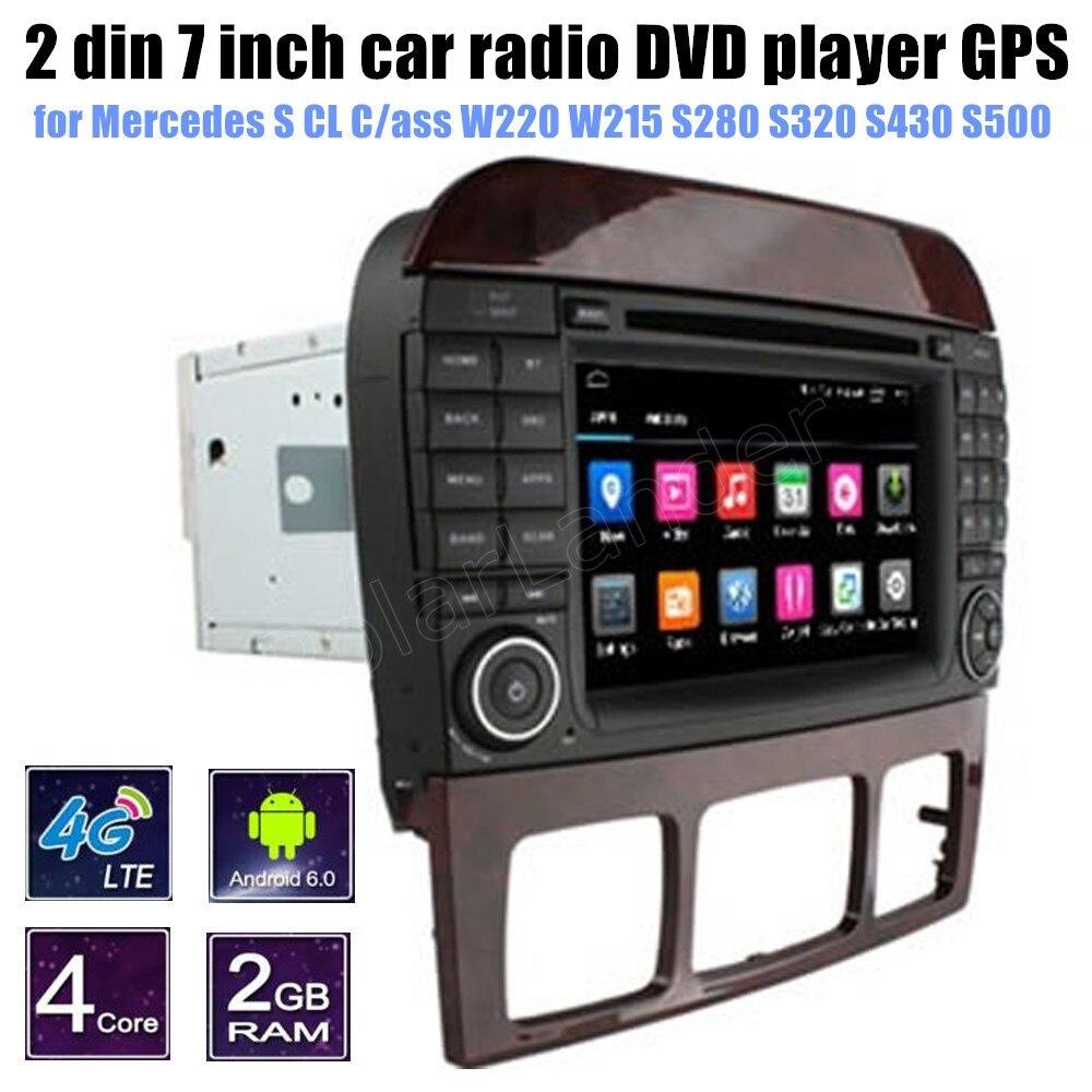 for Mercedes BENZ S CL Cass W220 W215 S280 S320 S430 S500 Car DVD radio player GPS support rear camera Bluetooth