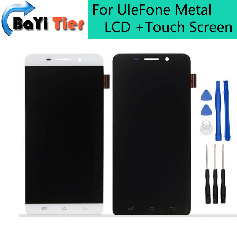 ФОТО For UleFone Metal LCD Display and Touch Screen Assembly Repair Part 5.0 inch Mobile For UleFone Metal Android 6.0 LCD+Free tool