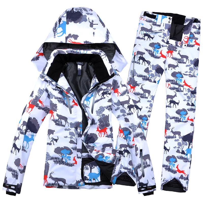 Combinaison de Ski femme veste de Ski + pantalon de Ski femme Snowboard ensemble hiver chaud vêtements imperméable coupe-vent respirant