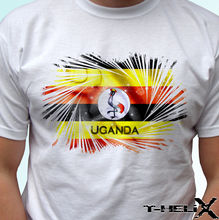 Uganda flag - white t shirt top Africa country design - mens womens kids & baby New T Shirts Funny Tops Tee New Unisex Funny