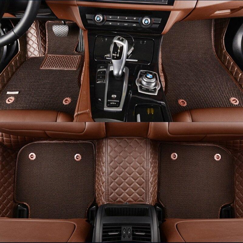 Custom fit car floor mats for toyota land cruiser 200 prado 150 120 rav4 corolla avalon highlander ca