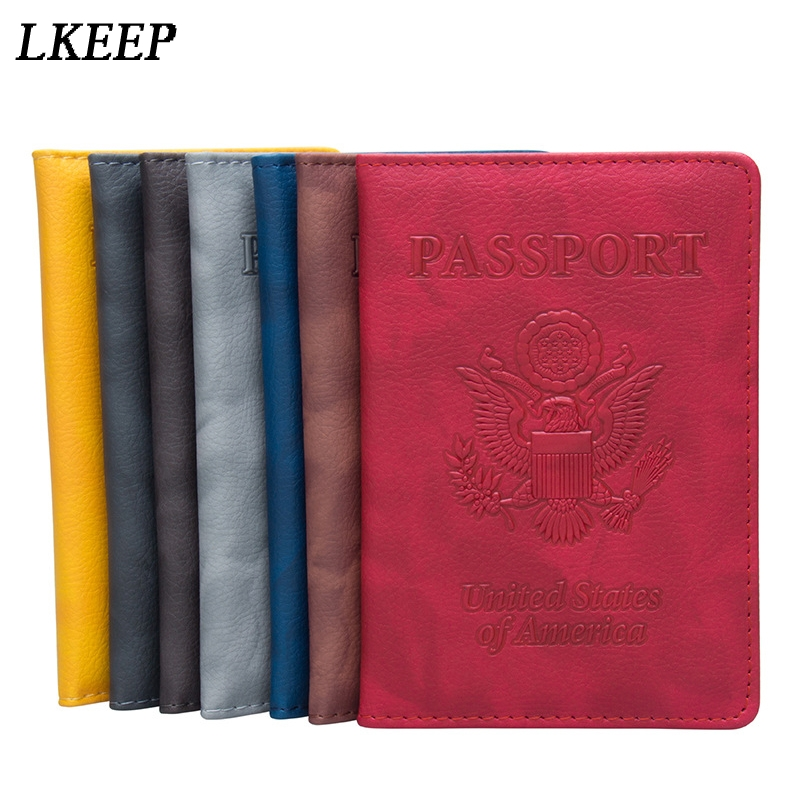 Dog Spotted Glance Leather Passport Holder Cover Case Travel One Pocket